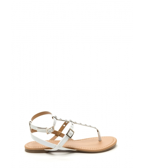 Incaltaminte Femei CheapChic Punch-drunk Love Faux Patent Sandals White