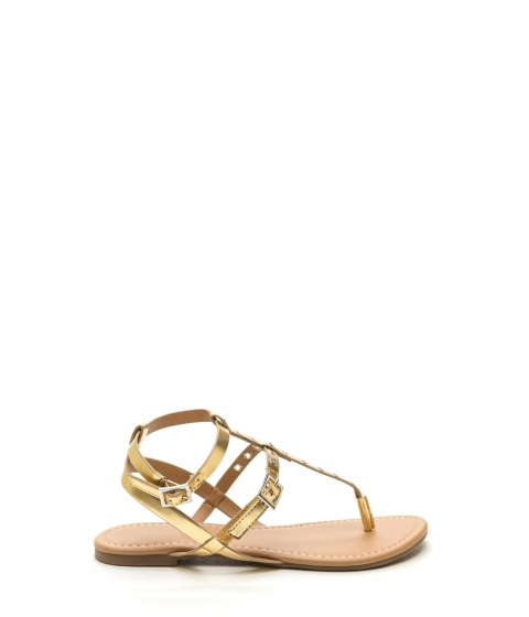 Incaltaminte Femei CheapChic Punch-drunk Love Metallic Sandals Gold