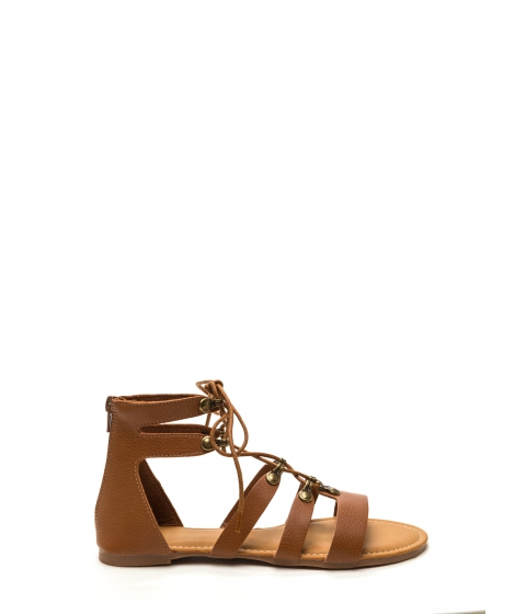 Incaltaminte Femei CheapChic Steal Your Style Faux Leather Sandals Chestnut