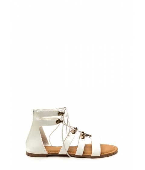 Incaltaminte Femei CheapChic Steal Your Style Faux Leather Sandals White