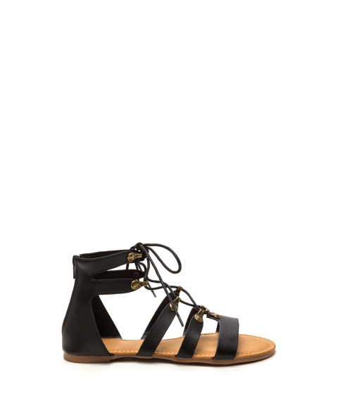 Incaltaminte Femei CheapChic Steal Your Style Faux Leather Sandals Black