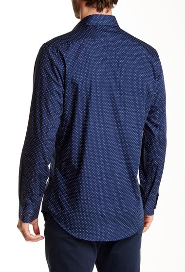 Imbracaminte Barbati 14th Union Long Sleeve Trim Fit Printed Dress Shirt NAVY DRESS