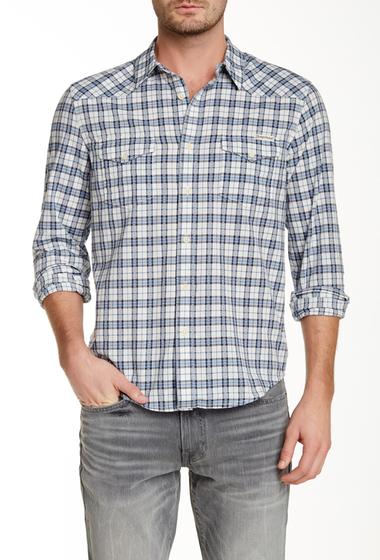 Imbracaminte Barbati Lucky Brand Long Sleeve Twill Dobby Guaranteed Fit Shirt BLUE MULT