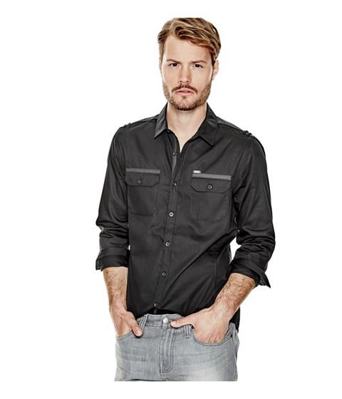 Imbracaminte Barbati GUESS Denberg Two-Pocket Shirt jet black