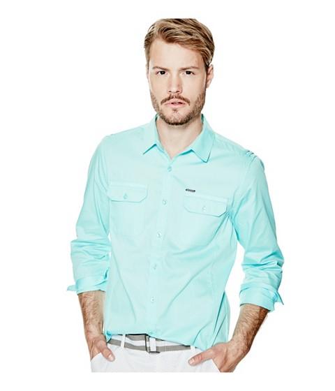 Imbracaminte Barbati GUESS Denberg Two-Pocket Shirt rinse wlemon