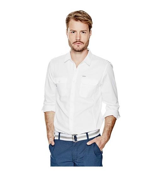 Imbracaminte Barbati GUESS Denberg Two-Pocket Shirt true white