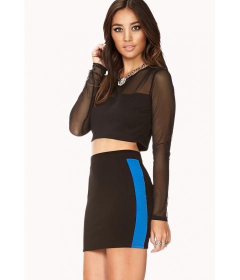 Imbracaminte Femei Forever21 Athletic Stripe Mini Skirt Blackroyal