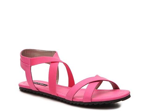 Incaltaminte Femei Michael Antonio Devil Flat Sandal Pink