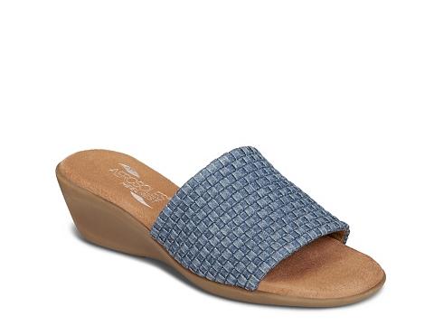 Incaltaminte Femei Aerosoles Badminton Denim Wedge Sandal Denim Blue