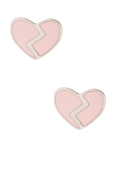 Bijuterii Femei Marc by Marc Jacobs Enamel Broken Hearted Stud Earrings FROST PINK