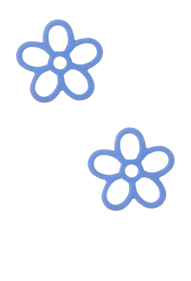 Bijuterii Femei Marc by Marc Jacobs Rubberized Daisy Stud Earrings CONCH BLUE
