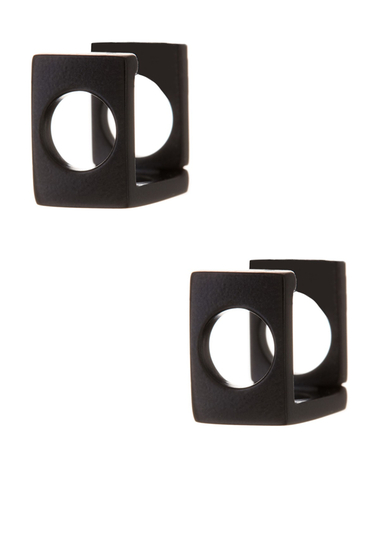 Bijuterii Femei Marc by Marc Jacobs Hole Punch Hinge Hoop Earrings BLACK