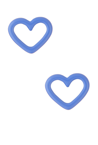 Bijuterii Femei Marc by Marc Jacobs Open Heart Stud Earrings CONCH BLUE