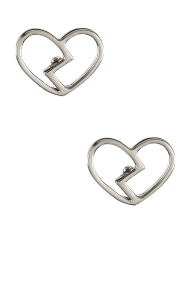 Bijuterii Femei Marc by Marc Jacobs Broken Hearted Stud Earrings ARGENTO