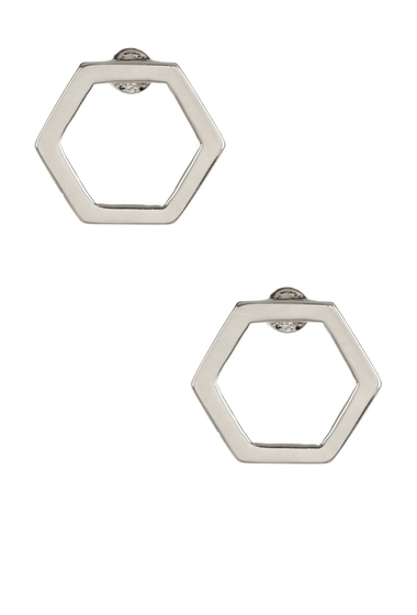 Bijuterii Femei Marc by Marc Jacobs Hexagon Stud Earrings ARGENTO
