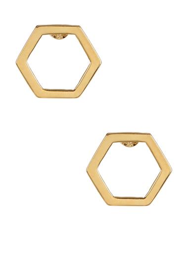 Bijuterii Femei Marc by Marc Jacobs Hexagon Stud Earrings ORO