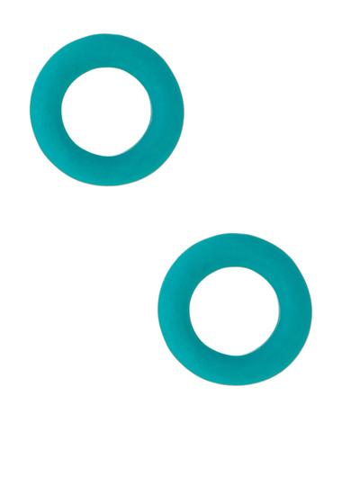 Bijuterii Femei Marc by Marc Jacobs Rubber Doughnut Stud Earrings WINTERGREEN
