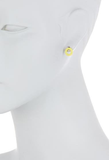 Bijuterii Femei Marc by Marc Jacobs Rubber Doughnut Stud Earrings DISCO YELLOW