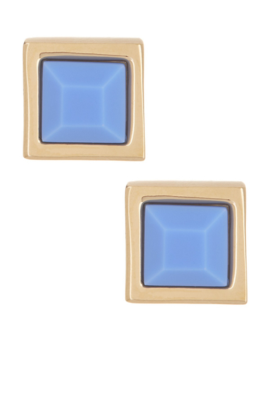 Bijuterii Femei Marc by Marc Jacobs Rubber Square Stud Earrings CONCH BLUE