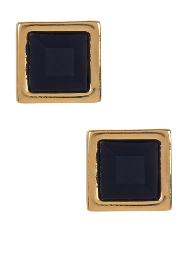 Bijuterii Femei Marc by Marc Jacobs Rubber Square Stud Earrings BLACK