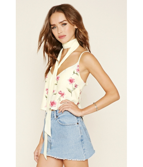 Imbracaminte Femei Forever21 Floral Print Cami and Sash Yellowberry sorbet