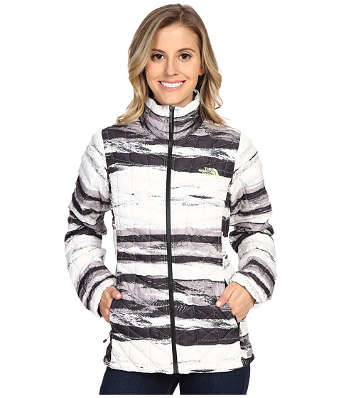 Imbracaminte Femei The North Face ThermoBalltrade Full Zip Jacket TNF Black Desert Stripe Print