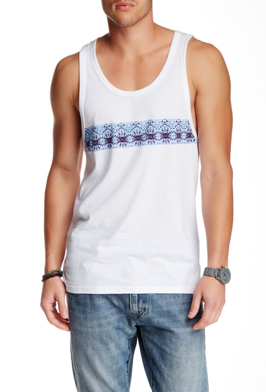 Imbracaminte Barbati O'Neill Printed Stripe Sleeveless Tank White-Manly print stripe