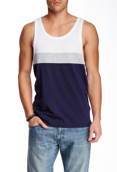 Imbracaminte Barbati O'Neill Colorblock Sleeveless Tank White-navy-grey marl stripe