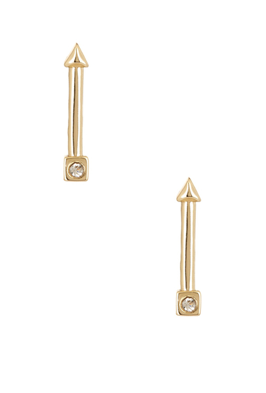 Bijuterii Femei Ariella Collection Mini Arrow Stud Earrings CLEAR