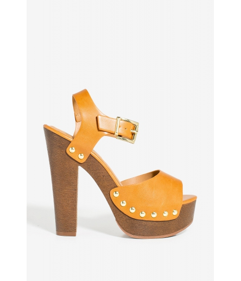 Incaltaminte Femei CheapChic Mally Dont Be Shy Platform Cognac