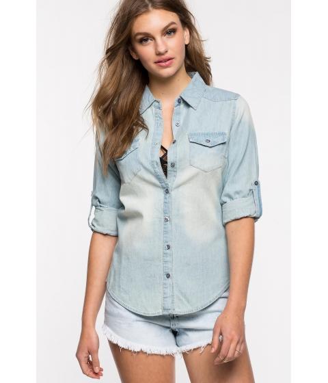 Imbracaminte Femei CheapChic Candace Denim Shirt Lt Wash Denim