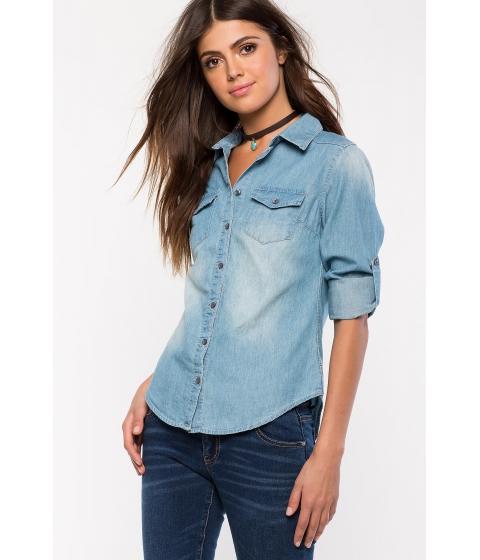 Imbracaminte Femei CheapChic Candace Denim Shirt Med Wash Denim