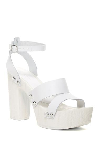 Incaltaminte Femei Charles David Ellie Platform Heel Sandal WHITE