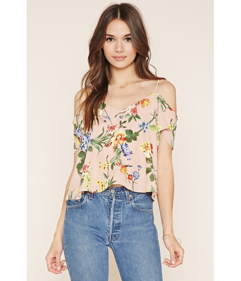 Imbracaminte Femei Forever21 Contemporary Open-Shoulder Top Rosemulti