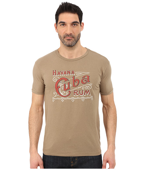 Imbracaminte Barbati Lucky Brand Cuba Rum Graphic Tee Khaki