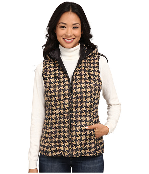Imbracaminte Femei Pendleton Reversible Print Quilted Vest Camel HoundstoothBlack