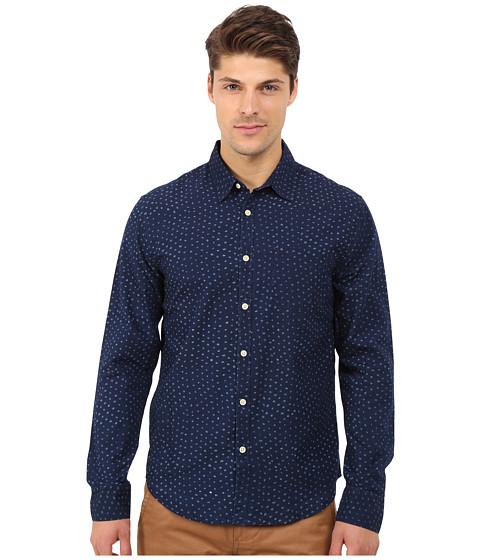 Imbracaminte Barbati Lucky Brand Dot Printed Shirt IndigoNatural