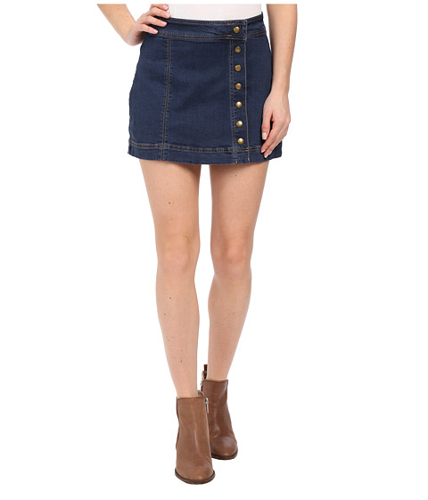 Imbracaminte Femei Free People Assymmetrical Button Down Skirt True Blue