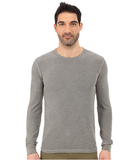 Imbracaminte Barbati Lucky Brand Long Sleeve Waffle Crew Brushed Nickel