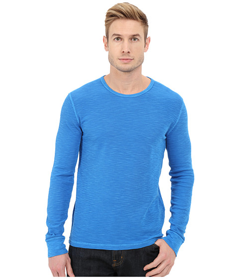 Imbracaminte Barbati Lucky Brand Long Sleeve Waffle Crew Windsor Blue
