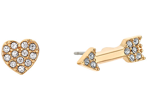 Bijuterii Femei Kate Spade New York Love List Heart and Arrow Studs Earrings Clear