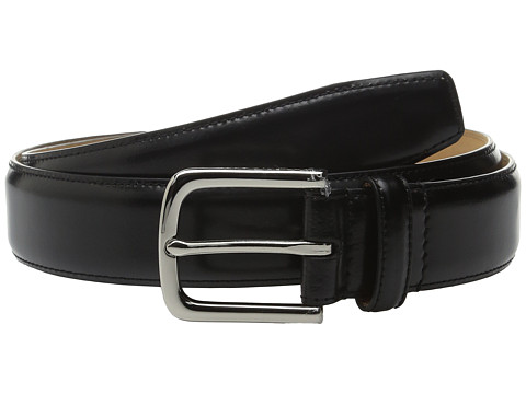 Accesorii Barbati Cole Haan 32mm Spazzolato Feather Edge Stitched Strap Black