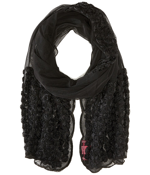 Accesorii Femei Betsey Johnson By A Rose Border Knit Wrap Black