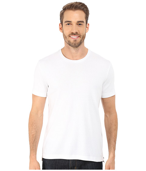 Imbracaminte Barbati Kenneth Cole Short Sleeve Rib Crew w Zipper White