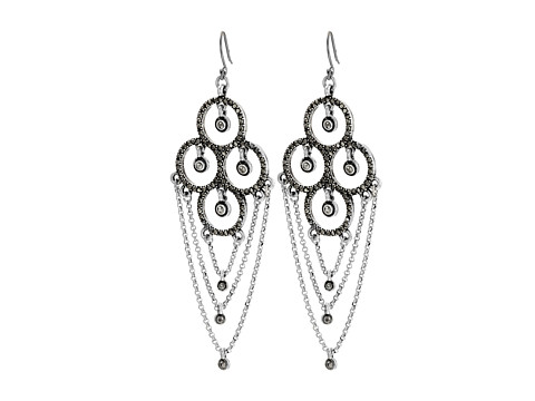 Bijuterii Femei Lucky Brand Pave Chain Dangles Earrings Silver