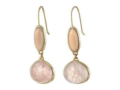 Bijuterii Femei Cole Haan Semi Precious Doorknocker Earrings GoldGrey OnyxRose Quartz