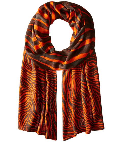 Accesorii Femei Michael Kors Zahra Kendal Zebra Oblong MandarinChocolate