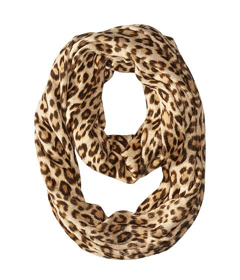 Accesorii Femei Michael Kors Leopard Raschel Large Infinity Scarf Caramel Combo