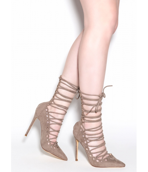 Incaltaminte Femei CheapChic In Between Lace-up Heels Taupe