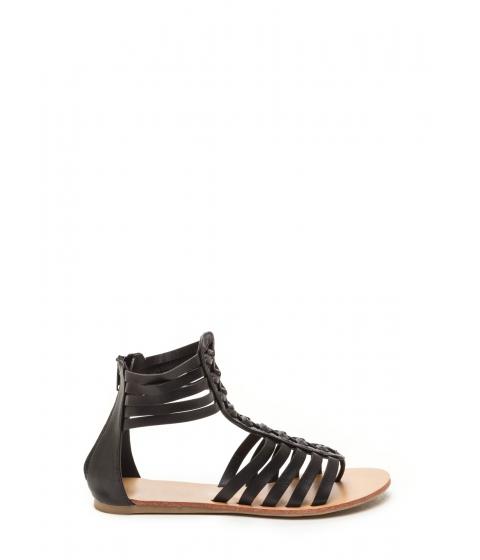 Incaltaminte Femei CheapChic Bob And Weave Strappy Sandals Black
